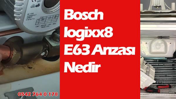 Bosch logixx8 e63 arızası nedir